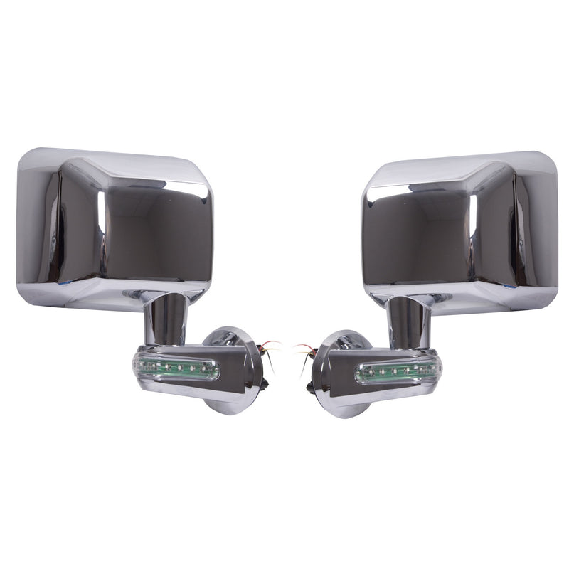 Door Mirrors with LED Turn Signals, Chrome by Rugged Ridge ('07-'18 Jeep Wrangler JK)