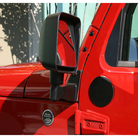 Mirror Relocation Brackets, Black by Rugged Ridge ('07-'18 Jeep Wrangler JK)