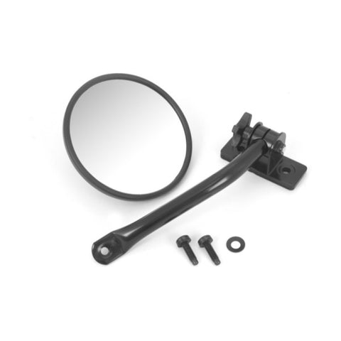 Quick Release Mirror, Black, Round by Rugged Ridge ('97-'18 Jeep Wrangler TJ, LJ, JK, JKU)