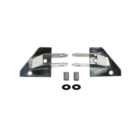 Mirror Relocation Brackets, Stainless Steel by Rugged Ridge ('87-'95 Jeep Wrangler YJ)