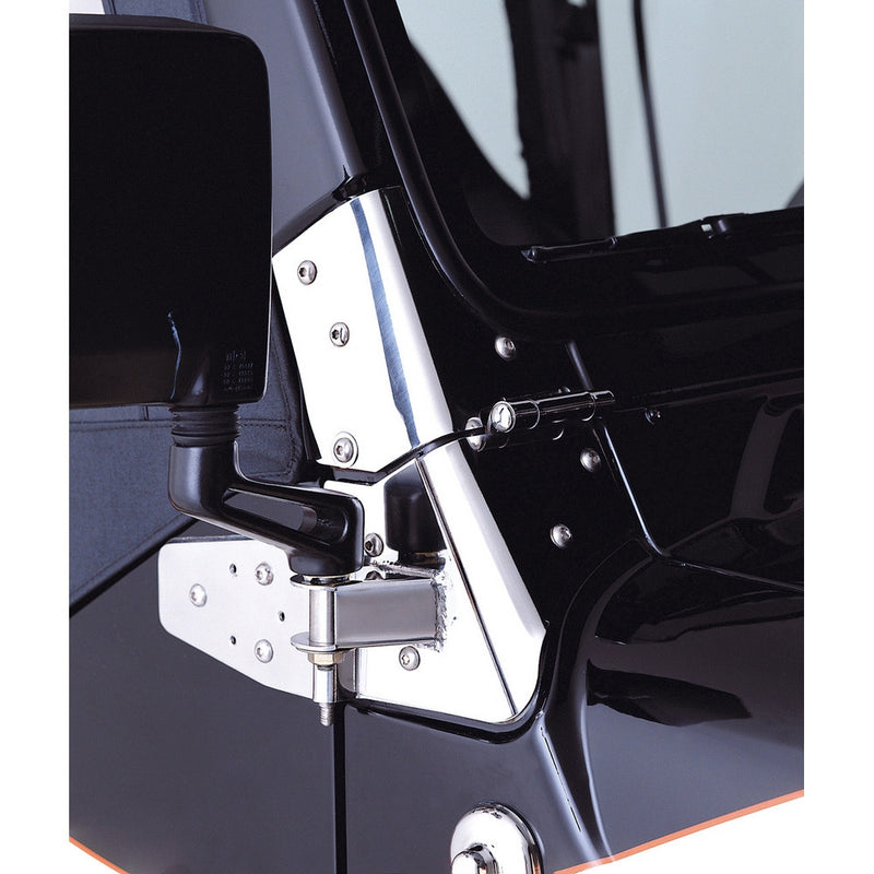 Mirror Relocation Brackets, Stainless Steel by Rugged Ridge ('97-'06 Jeep Wrangler TJ)