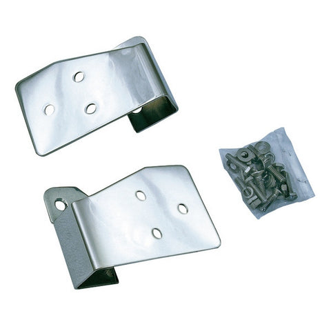 Mirror Relocation Brackets, Stainless Steel by Rugged Ridge ('03-'06 Jeep Wrangler TJ, LJ)