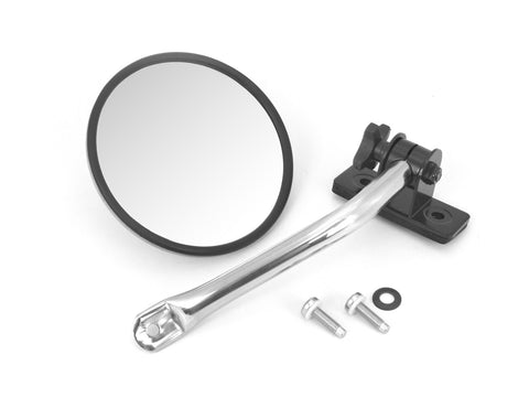 Quick Release Round Mirror Relocation Kit, Pair, Stainless by Rugged Ridge ('97-'18 Jeep Wrangler TJ, JK)