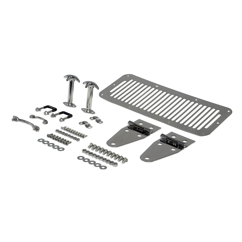 Hood Kit, Stainless Steel by Rugged Ridge ('76-'95 Jeep Wrangler CJ,YJ)