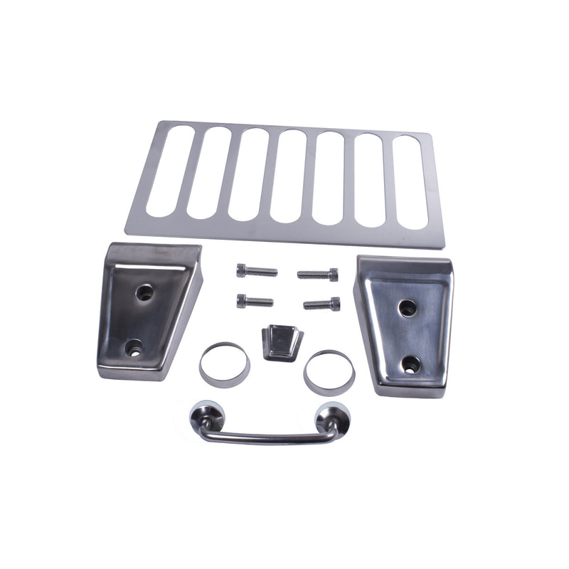 Hood Dress Up Kit, Stainless Steel by Rugged Ridge ('07-'12 Jeep Wrangler JK)
