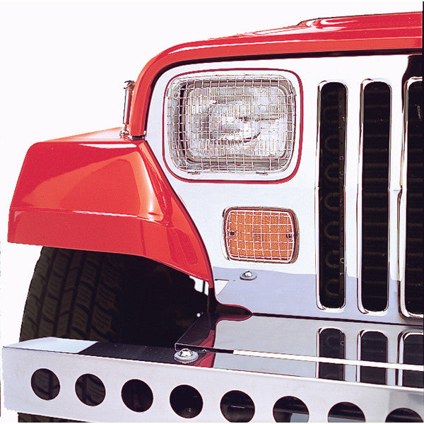 Stone Guard Set, Stainless Steel by Rugged Ridge ('87-'95 Jeep Wrangler YJ)