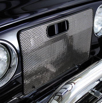 Radiator Bug Shield, Stainless Steel by Rugged Ridge ('97-'06 Jeep Wrangler TJ)