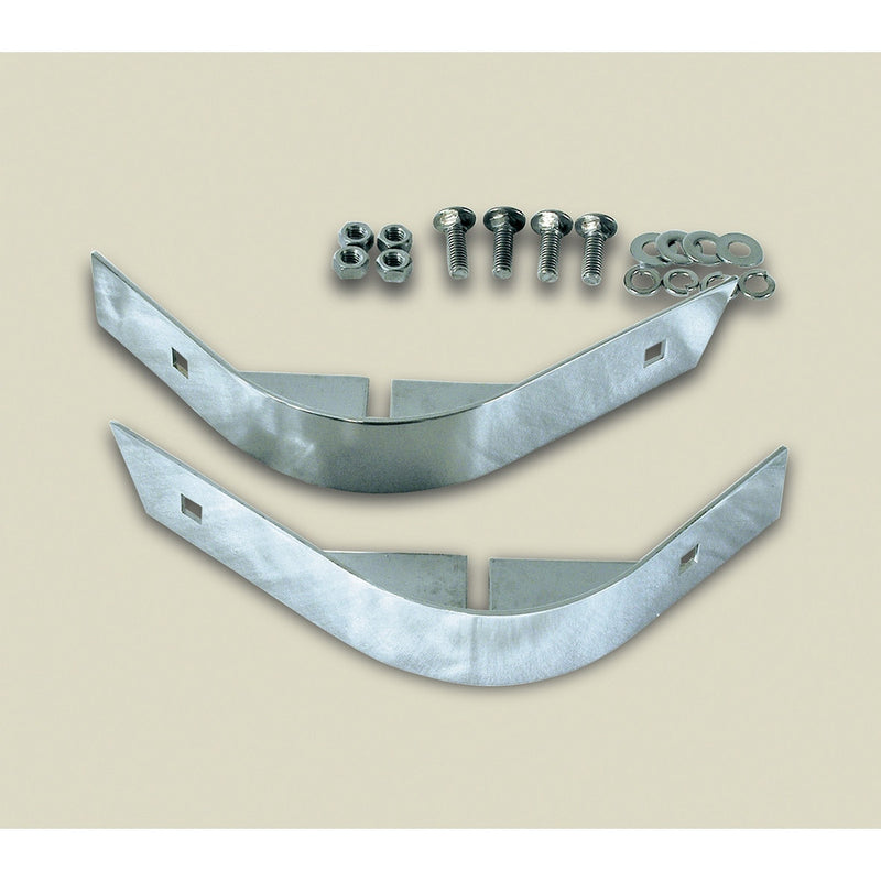 Rear Corner Body Guards, Stainless Steel by Rugged Ridge ('87-'95 Jeep Wrangler YJ)