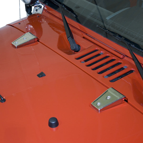 Jeep hood hinge covers