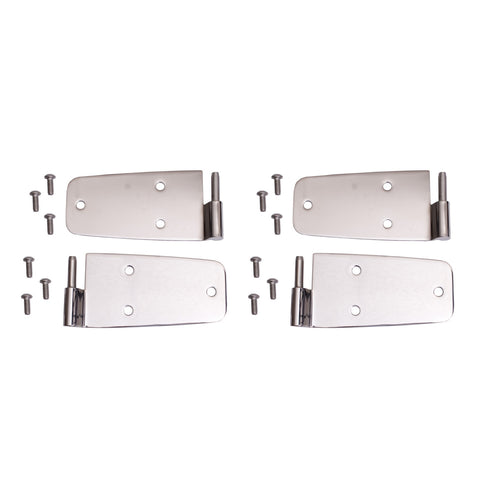Door Hinge Kit, Stainless Steel by Rugged Ridge ('76-'93 Jeep Wrangler CJ, YJ)
