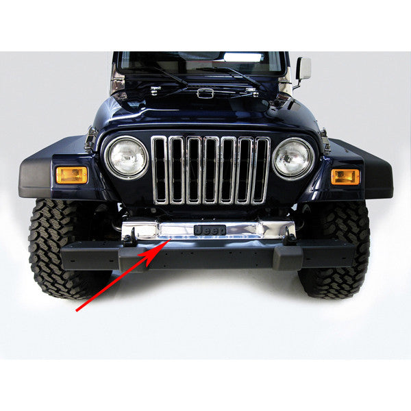 Front Frame Cover, Stainless Steel by Rugged Ridge ('97-'06 Jeep Wrangler TJ)