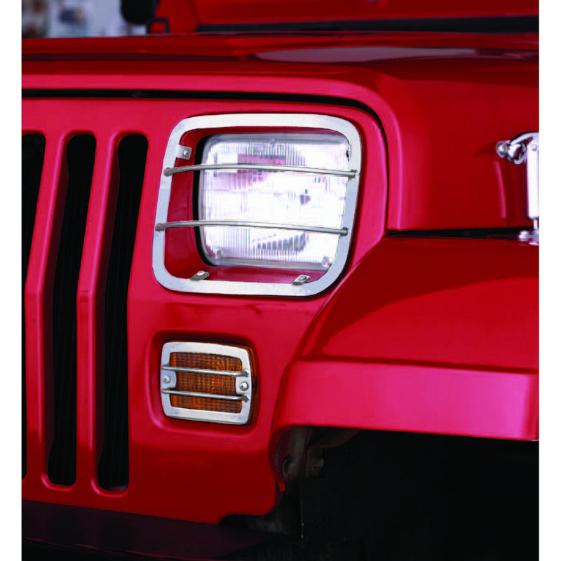 Euro Guard Set, Stainless Steel by Rugged Ridge ('87-'95 Jeep Wrangler YJ)