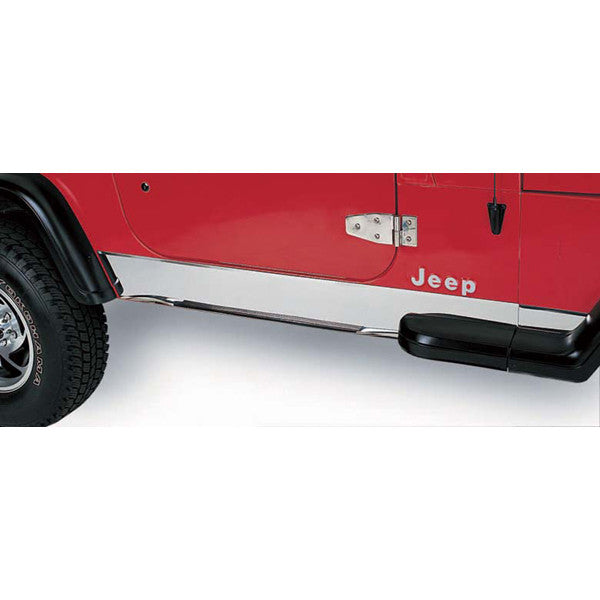 Rocker Panel Cover, Stainless Steel by Rugged Ridge ('97-'06 Jeep Wrangler TJ)
