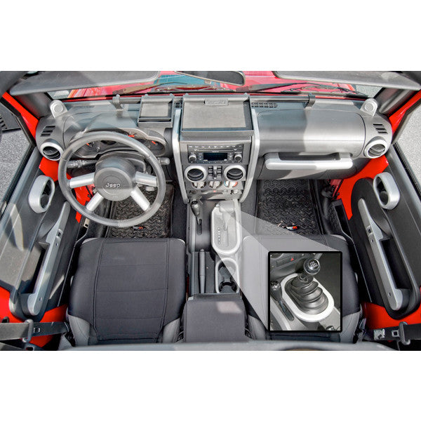 brushed silver interior trim accent kit for Wrangler JK