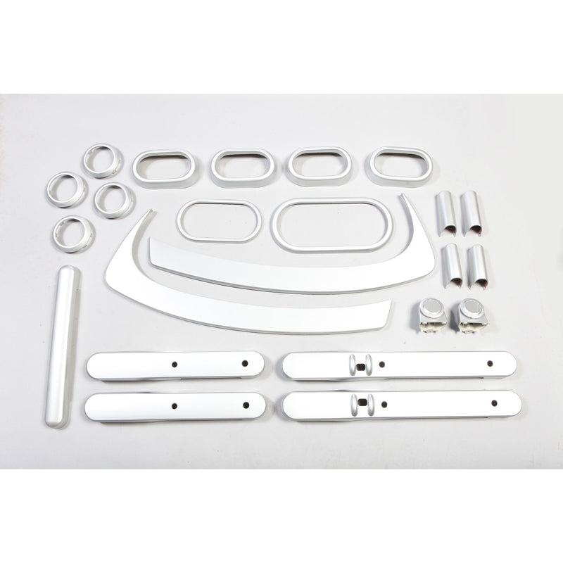 brushed silver interior trim kit for Wrangler JKU