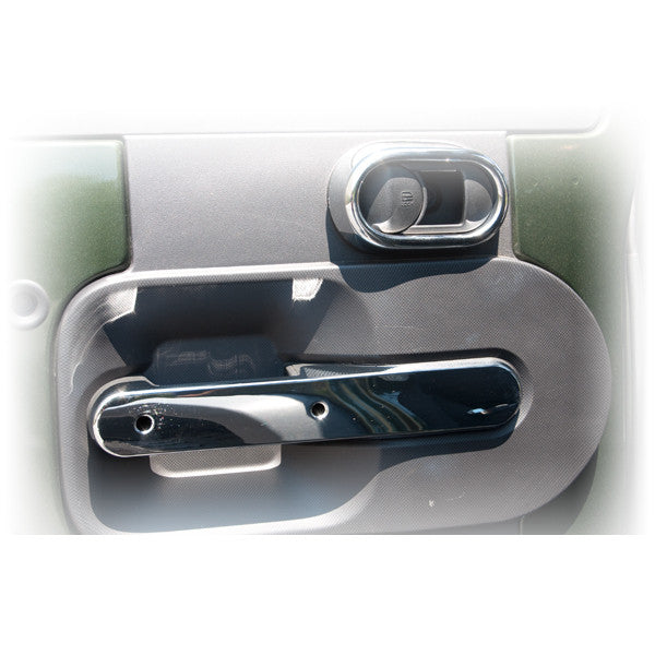 Rear Door Handle Trim, Chrome by Rugged Ridge ('07-'10 Wrangler JKU)