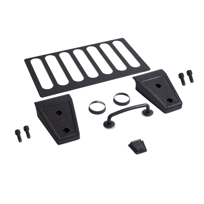 Hood Dress Up Kit, Textured Black by Rugged Ridge ('07-'12 Jeep Wrangler JK)