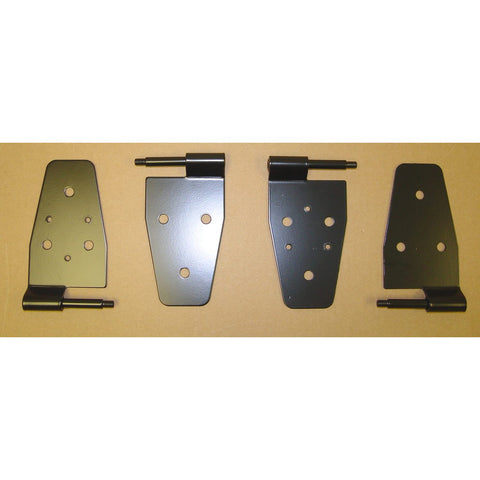 Door Hinge Kit, Black by Rugged Ridge ('87-'06 Jeep Wrangler TJ)