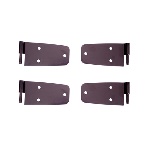 Door Hinge Kit, Black by Rugged Ridge ('76-'86 Wrangler CJ)