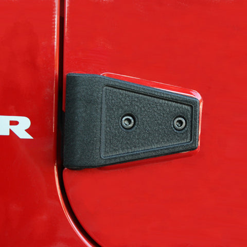 Door Hinge Cover Kit, Textured Black by Rugged Ridge ('07-'18 Wrangler JK)