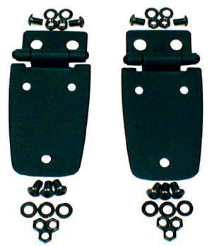 Hood Hinges, Black by Rugged Ridge ('97-'06 Jeep Wrangler TJ)