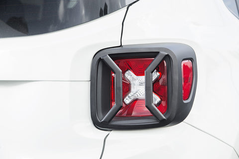 Tail Light Euro Guards, Textured Black ('15-'18 Jeep Renegade BU)