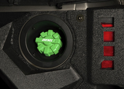 Elite Fuel Cap, Aluminum, Green, by Rugged Ridge ('01-'18 Wrangler)