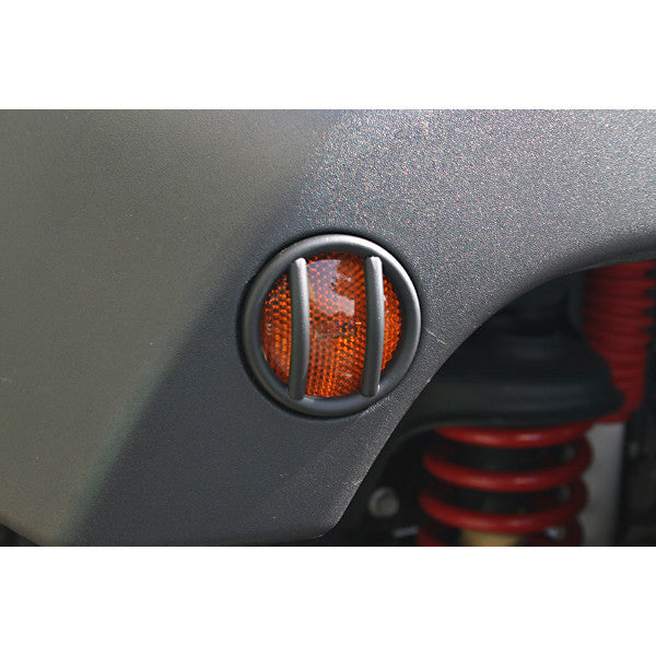 Side Marker Light Euro Guards, Black by Rugged Ridge ('07-'18 Jeep Wrangler JK)