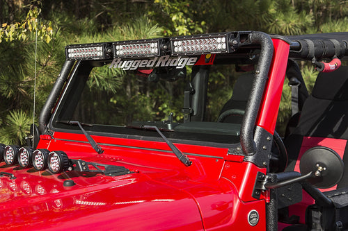 Windshield LED Light Bar by Rugged Ridge ('97-'06 Jeep Wrangler TJ)