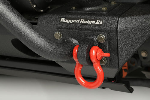 D-Ring Shackles, 3/4-Inch, Red, Steel, Pair by Rugged Ridge (Universal) - Jeep World