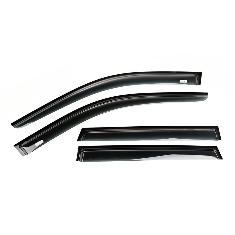 Window Visor, 4-piece set, Black by Rugged Ridge ('11-'18 Jeep Grand Cherokee WK)
