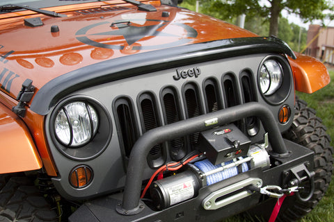 Wraparound Bug Deflector, Smoke by Rugged Ridge ('07-'18 Jeep Wrangler JK)