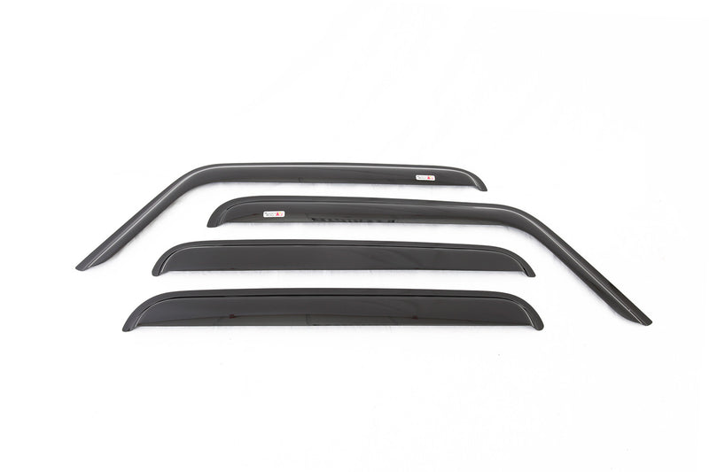 Window Rain Deflectors by Rugged Ridge ('07-'18 Jeep Wrangler JKU)