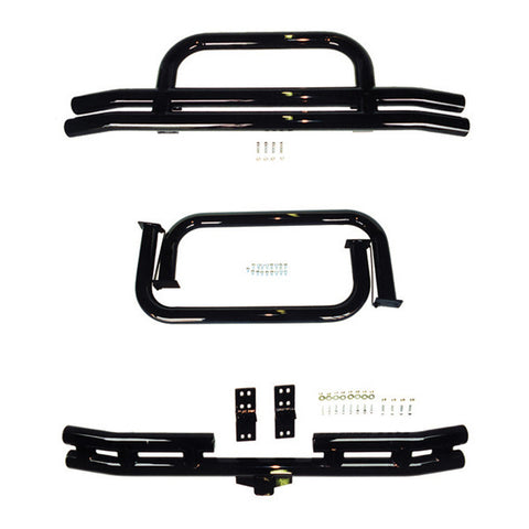 3 Inch Tubular Bumper and Side Step Kit, Black by Rugged Ridge ('76-'86 Jeep CJ7/CJ8)