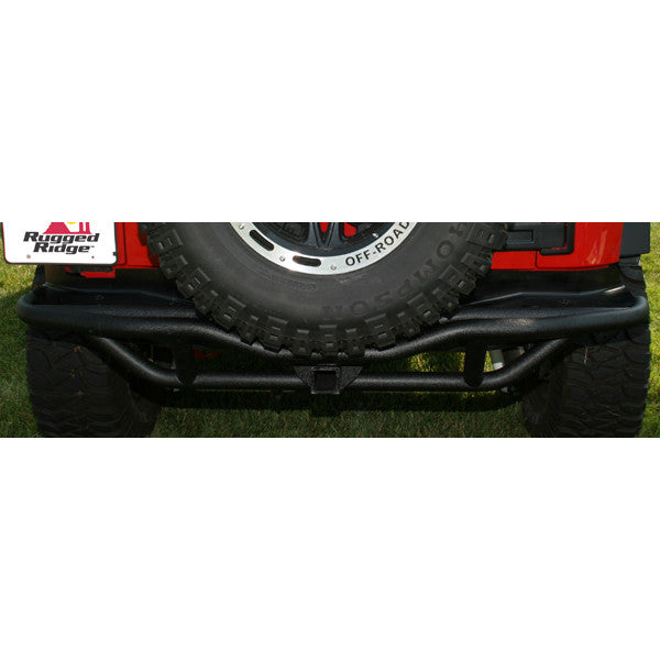 RRC Rear Bumper, 2 Inch Receiver Hitch by Rugged Ridge ('07-'18 Jeep Wrangler JK)