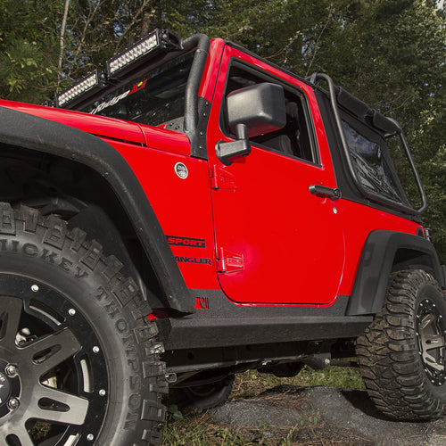 XHD Rock Sliders, Steel, 2 Door by Rugged Ridge ('07-'18 Wrangler JK)