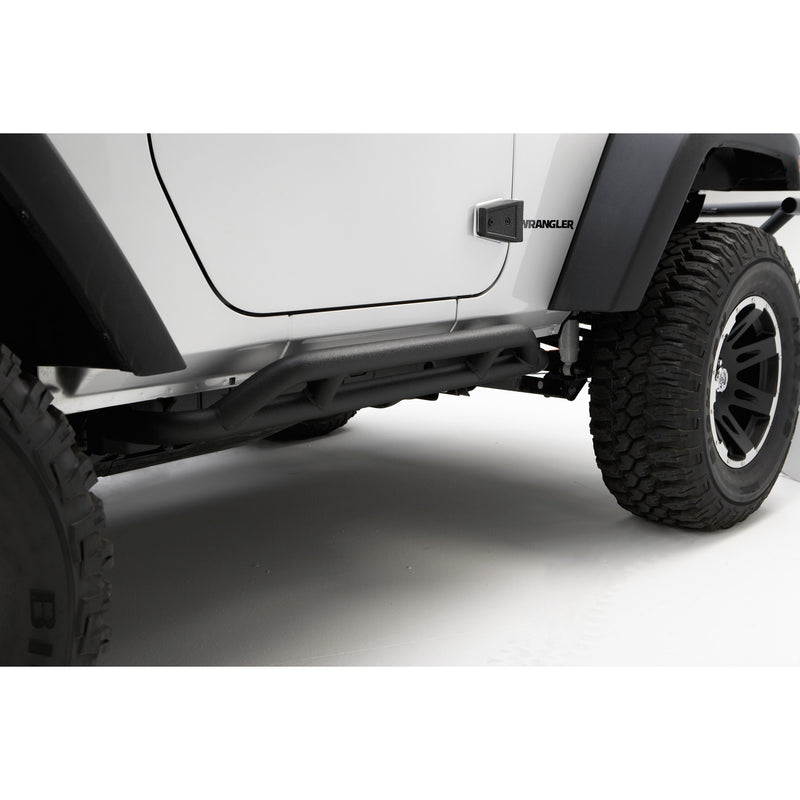 RRC Rocker Guards, Black by Rugged Ridge ('07-'18 Jeep Wrangler JK)