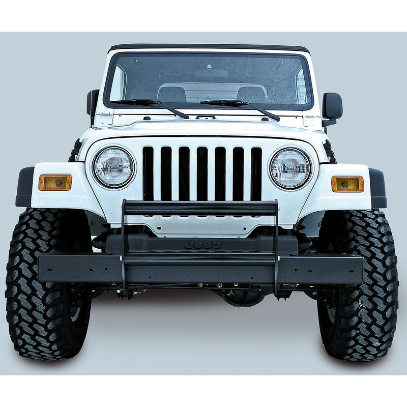 Brush Guard, Gloss Black by Rugged Ridge ('97-'06 Jeep Wrangler TJ) - Jeep World