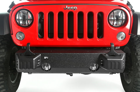 XHD Front Bumper Base, Tow Point Covers by Rugged Ridge ('07-'18 Jeep Wrangler JK)
