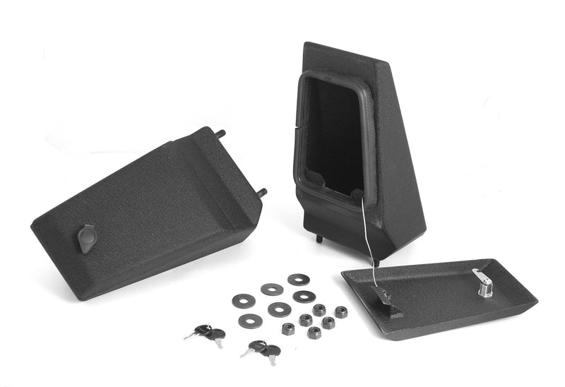 XHD Bumper Storage Ends, Textured Black by Rugged Ridge ('76-'06 Jeep Wrangler CJ, YJ, TJ)