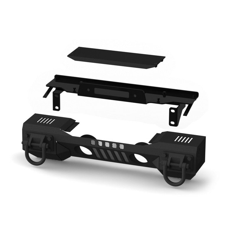 XHD Aluminum Front Bumper, Winch Mount by Rugged Ridge ('07-'18 Jeep Wrangler JK)