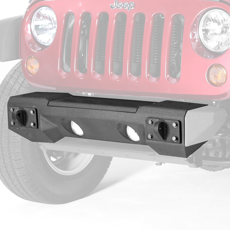 Steel Front Winch Bumper, Aluminum Accessories Only by Rugged Ridge ('07-'18 Wrangler JK)