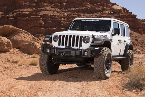 Spartacus Bumper, Front, Black, W/Winch Plate by Rugged Ridge ('18 Wrangler JL )