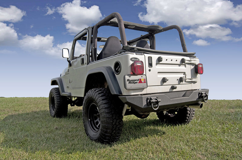 XHD Rear Bumper by Rugged Ridge ('76-'06 Jeep Wrangler CJ, YJ, TJ)