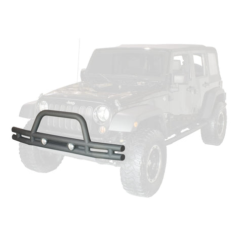 Double Tube Front Bumper, 3 Inch by Rugged Ridge ('07-'18 Jeep Wrangler JK)