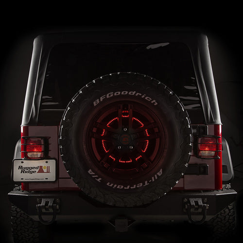 Brake Light LED Ring by Rugged Ridge (Wrangler CJ, YJ, TJ, JK, JL, JT)