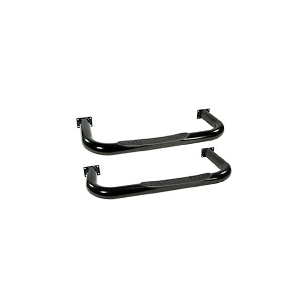 Round Tube Side Steps, 3 Inch, Black by Rugged Ridge ('76-'83 Wrangler CJ5)