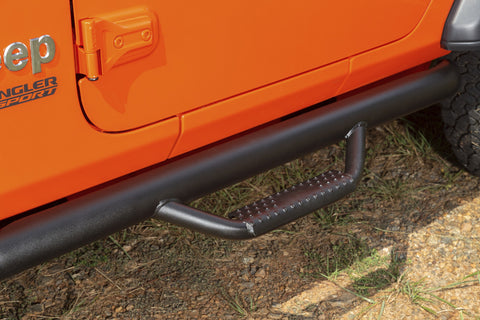 Spartan Nerf Bar, Textured Black by Rugged Ridge ('18 Wrangler JL 2 Door)