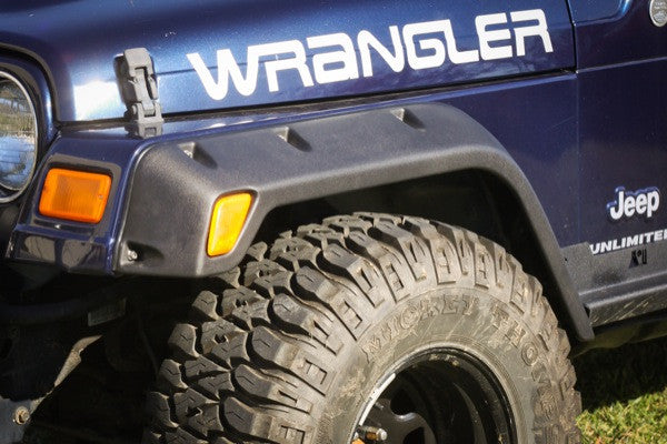 4 Piece All Terrain Fender Flare Kit, 4.75 Inch by Rugged Ridge ('97-'06 Jeep Wrangler TJ) - Jeep World