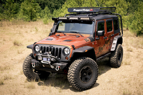 Hurricane Flat Fender Flare Kit by Rugged Ridge ('07-'18 Jeep Wrangler JK)